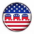 Republican Party button - Stockfoto