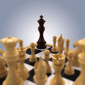 Chess king Cornered — Stock Photo
