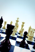 Chess pieces — Stockfoto
