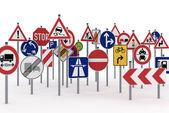 Trafik işaretleri — Stok fotoğraf