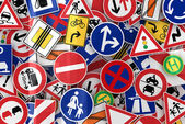 Trafikskyltar — Stockfoto