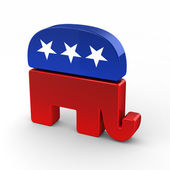 Republican elephant — Stock Photo