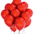 Red party ballooons — Stock Photo