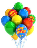Ballons joyeux anniversaire — Photo