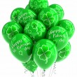 St Patricks Day balloons - Stock Photo