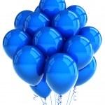 Blue party ballooons — Stock Photo