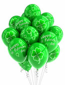 St Patricks Day balloons — Stock Photo