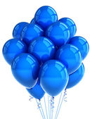 Blue party ballooons — Stock Photo