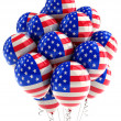图库照片: USA patriotic balloons