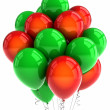 Red and green party ballooons — Stock Photo