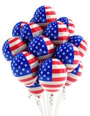 USA patriotic balloons — 图库照片