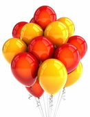 Red and yellow party ballooons — Stock Photo