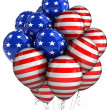 Patriotic balloons - Stock Photo