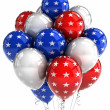 Stock Photo: Patriotic balloons