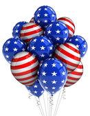 Patriotiska ballonger — Stockfoto
