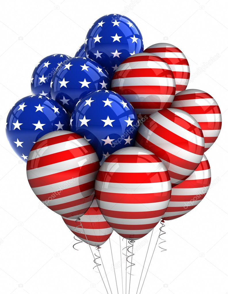 Patriotic Balloons Stock Photo 169 Creisinger 5841023