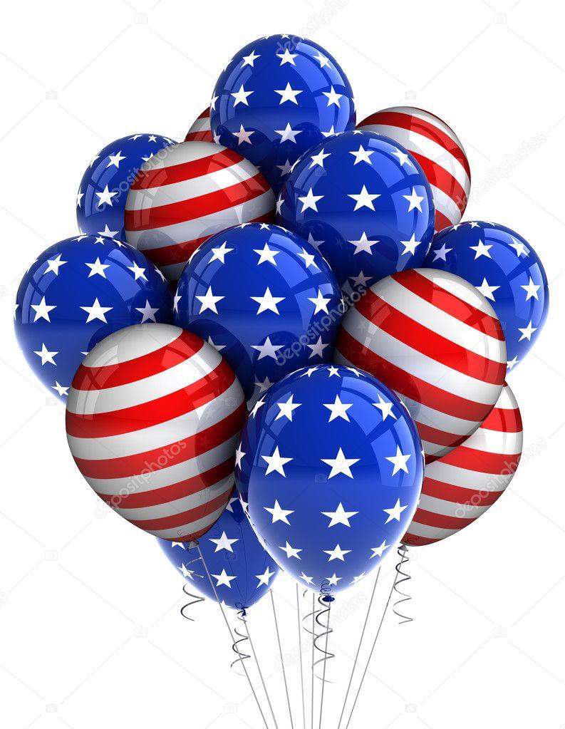 Patriotic balloons — Stock Photo © creisinger #5843580