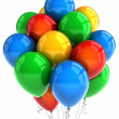 Party balloons over white - Foto Stock