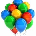 Party balloons over white — Stock Photo
