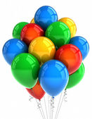 Parti ballonger över vita — Stockfoto