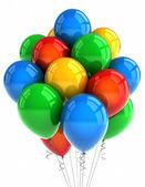 Party balóny nad bílá — Stock fotografie