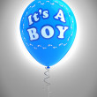 It's a boy party balloon - 图库照片