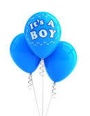 It's a boy party balloon — Stock Photo