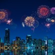 Stock Photo: Fireworks in Miami