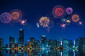 Fireworks in Miami — Stock Photo