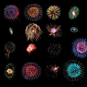 Fireworks design elements — Stock Photo