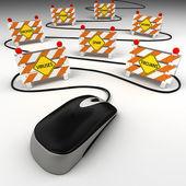 互联网安全威胁 — 图库照片