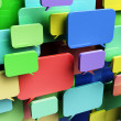 Stock Photo: Colorful speech bubbles