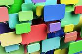 Colorful speech bubbles — Stock Photo