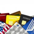 Fake credit cards — Stockfoto