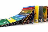 落下のクレジット カード — ストック写真
