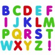 Fridge Magnet Alphabet - Stock Photo