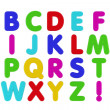 Foto de Stock  : Fridge Magnet Alphabet