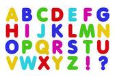 冰箱磁铁字母表 — 图库照片