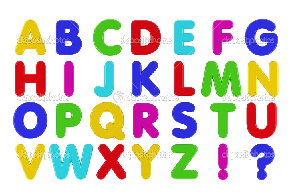 Refrigerator magnets alphabet