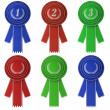 Set of six award ribbons - Stock Photo