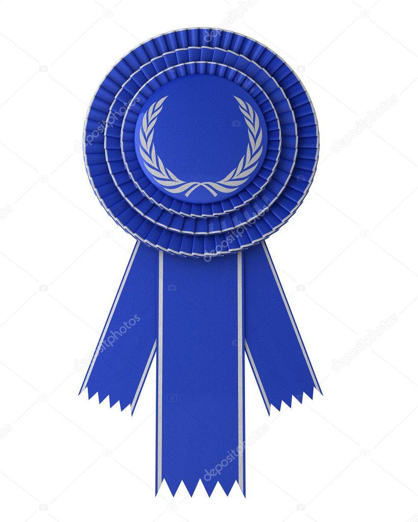 Blue Award Ribbon — Stock Photo © creisinger #6591681
