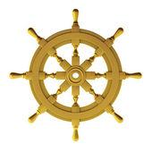 3d render of gold wheel — Stock Photo