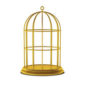 3d render of bird cage — Stock Photo