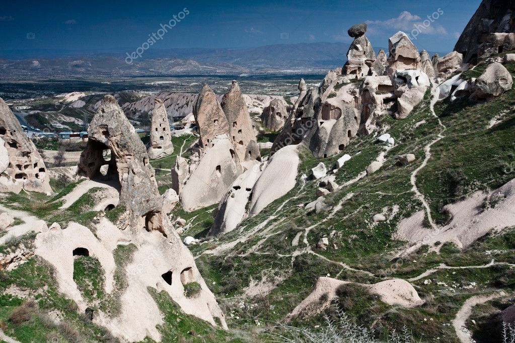 Strange stone formations, Cappadocia, Turkey  Stock Photo #5589184