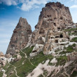 Cappadocia valley. Uchisar cave castle. — Stock Photo
