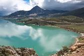 : Egirdir lake z Turcji gór. — Zdjęcie stockowe