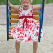 Stock Photo: Cute little girl having fun.