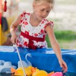 Cute little girl having fun. - Stock Photo