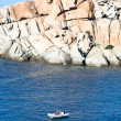 Dinghies At Capo Testa, Sardinia — Stock Photo
