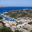 Aerial View Above Poltu Quatu - Sardinia, Italia — Stock Photo